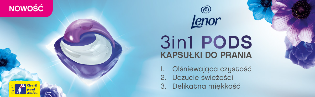 Lenor 3in1 PODS kapsułki do prania