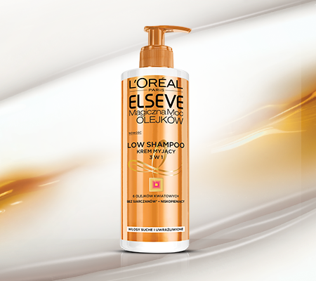 ELSEVE Low Shampoo Krem Myjący 3w1 Magiczna Moc OLEJKÓW